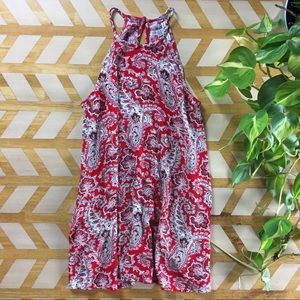 American Eagle | Paisley Red Dress
